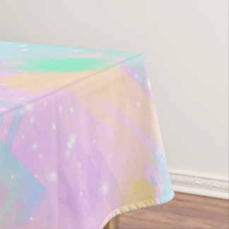 elegant modern bright pastel watercolor tablecloth