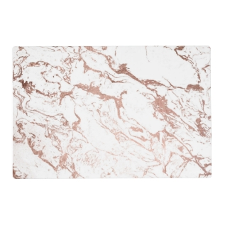 Elegant Modern Chic Faux Rose Gold White Marble Placemat at Zazzle