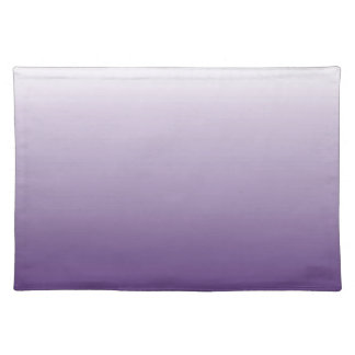 elegant modern chic girly abstract purple ombre cloth placemat