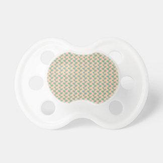 Elegant Modern Chic Leaf Pattern Baby Pacifiers