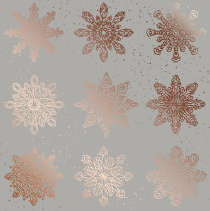 elegant modern christmas rose gold snowflakes wrapping paper - Elegant Christmas Wrapping Paper