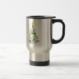 Elegant Modern Christmas tree Illustration Travel Mug