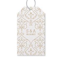 Elegant modern classic vintage wedding monogram gift tags
