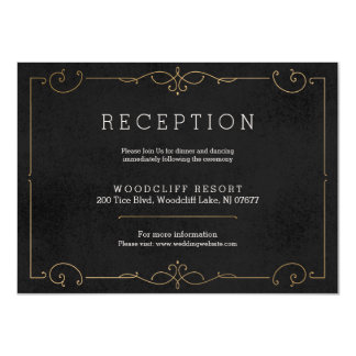 Elegant modern classic wedding reception card