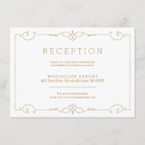 Elegant modern classic wedding reception card