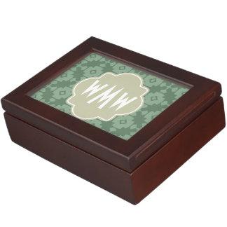 Elegant Modern Classy Retro 3 Letter Monogram Memory Box