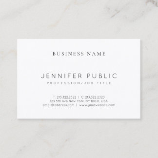 Elegant Modern Clean Plain Luxury Professional Business Card