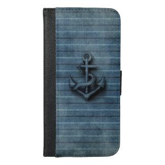 Elegant modern cool anchor nautical iPhone 6/6s plus wallet case