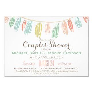Elegant, Modern Couples Wedding Shower 5x7 Paper Invitation Card
