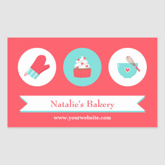 Elegant Modern Cupcake Bakery Cafe Stickers