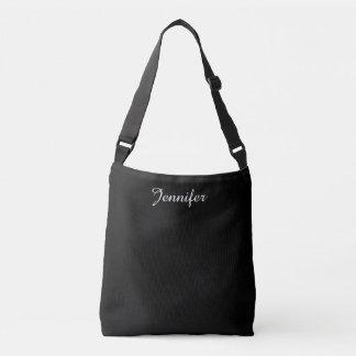 Elegant Modern Custom Name Crossbody Bag