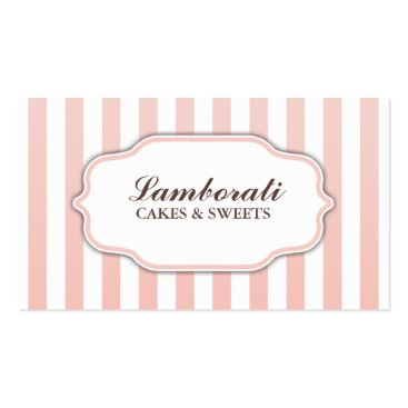 Elegant Modern Cute Pink and White Groupon Double-Sided Standard Business Cards (Pack Of 100)