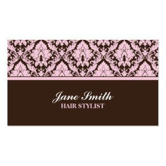 Elegant Modern Damask Floral Stylish Classy Business Cards