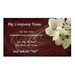Elegant, Modern, Dark Red Floral Swirl, Business C Business Card