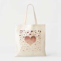elegant modern faux rose gold hearts pattern tote bag