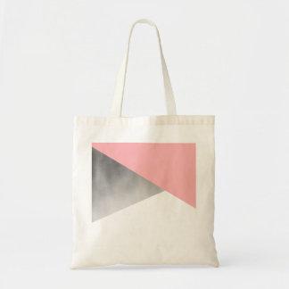 elegant modern faux silver blush pink geometric tote bag
