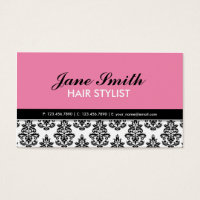 Elegant Modern Floral Pattern Stylist Salon Business Card