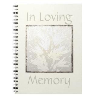 Elegant Modern Funeral Guest Book In Loving Memory