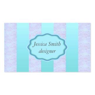 Elegant modern gentle stripes blue business card