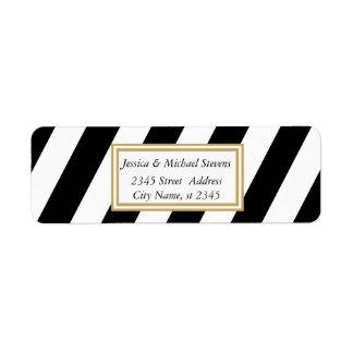Elegant modern gentle stripes label