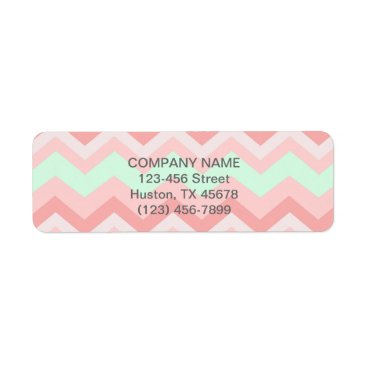 Professional Business elegant modern girly fashion mint coral chevron label
