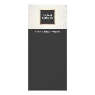 Elegant Modern Gold and Black Stylish Chic Rack Card Design