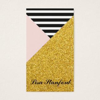 Elegant Modern Gold, Blush pink business card