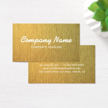Elegant Modern Golden Template Business Card by RainbowChild_Art at Zazzle