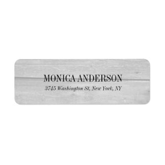 Elegant Modern  Gray Wood Background Label