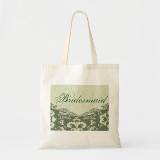 elegant modern Green Floral country bridesmaid Tote Bag
