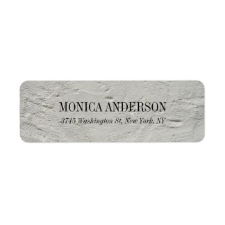 Elegant Modern Grey Wall Label