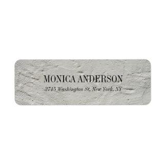 Elegant Modern Grey Wall Label