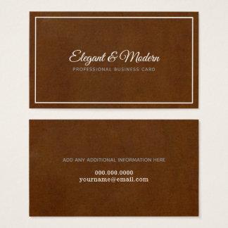 elegant & modern handwritten prof. brown business card