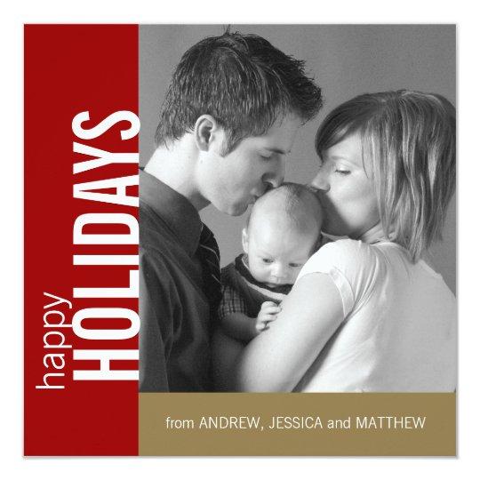 Elegant Modern Happy Holidays Card