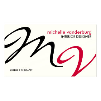 Elegant / Modern interior design Business Cards