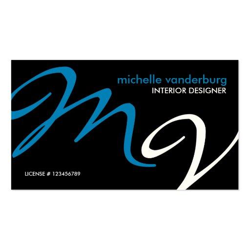 Elegant / Modern interior design Business Cards   Zazzle