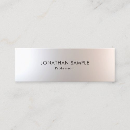 Elegant Modern Minimalist Glamour Simple Template Mini Business Card