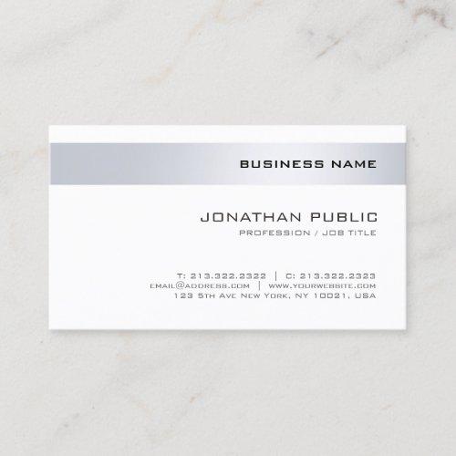 Elegant Modern Minimalistic Design Trendy Company Business Card