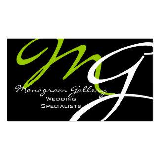 Elegant Modern Monogram Business Cards