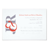 Elegant Modern Monogram Wedding RSVP Card
