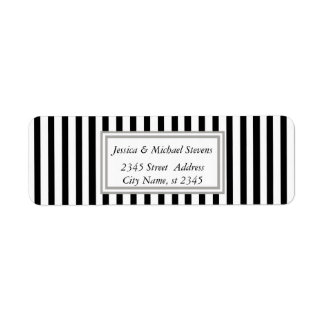Elegant modern narrow stripes label