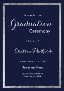elegant graduation invitations zazzle