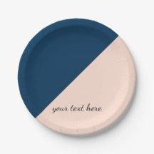sc 1 st  Zazzle & Navy Blue Peach Plates   Zazzle