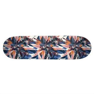 Elegant modern pointy leaf art painting skateboard deck