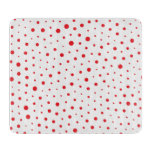 Elegant Modern Polka Dots -Red- Customize BG Cutting Board