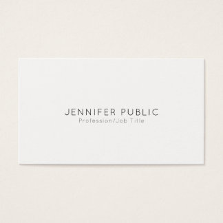 Elegant Modern Professional Minimalistic Plain Business Card