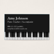 Elegant, Modern, Professional, Piano Teacher Business Card at Zazzle