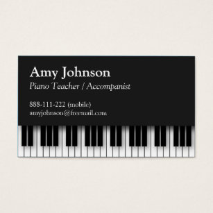 Teacher business cards templates zazzle elegant modern professional piano teacher business card accmission Images