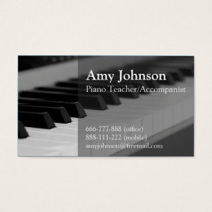 Piano teacher business cards templates zazzle elegant modern professional piano teacher business card colourmoves