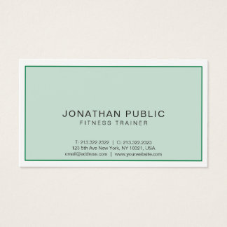 Elegant Modern Professional Sport Fitness Trainer Business Card